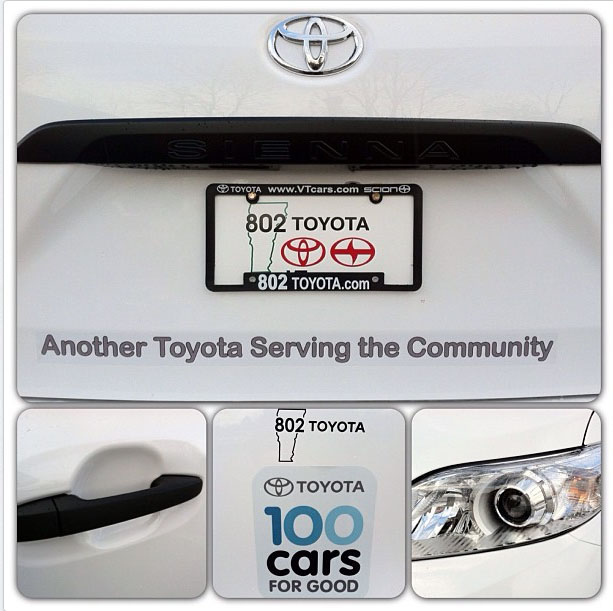 802 Toyota Presents The Central Vermont Humane Society With Their New Toyota  Sienna!