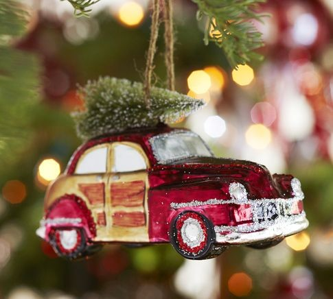 Tree Ornament Featuring their Favorite Car or Car Brand - Stocking Stuffers For The Car Lover In Your Life! 802Cars.com