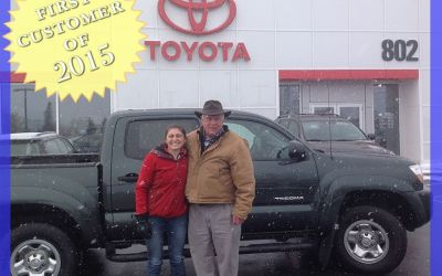 Our First Customer of 2015 Drove Away in a Certified Toyota