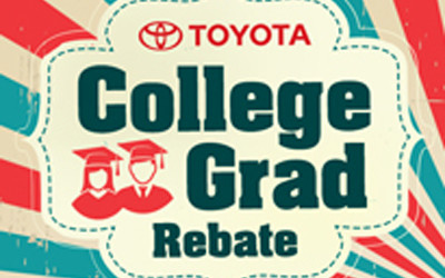Are You a Recent College Grad? Get your $750 Toyota College Grad Rebate!