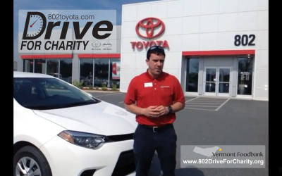802Cars.com Drive For Charity – Video Demos of a New Toyota Corolla and Scion tC!