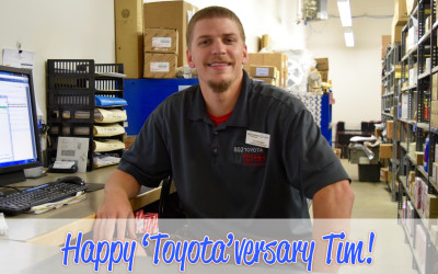 Employee Spotlight: Tim Wheatley on his 9 Year 'Toyota'versary!
