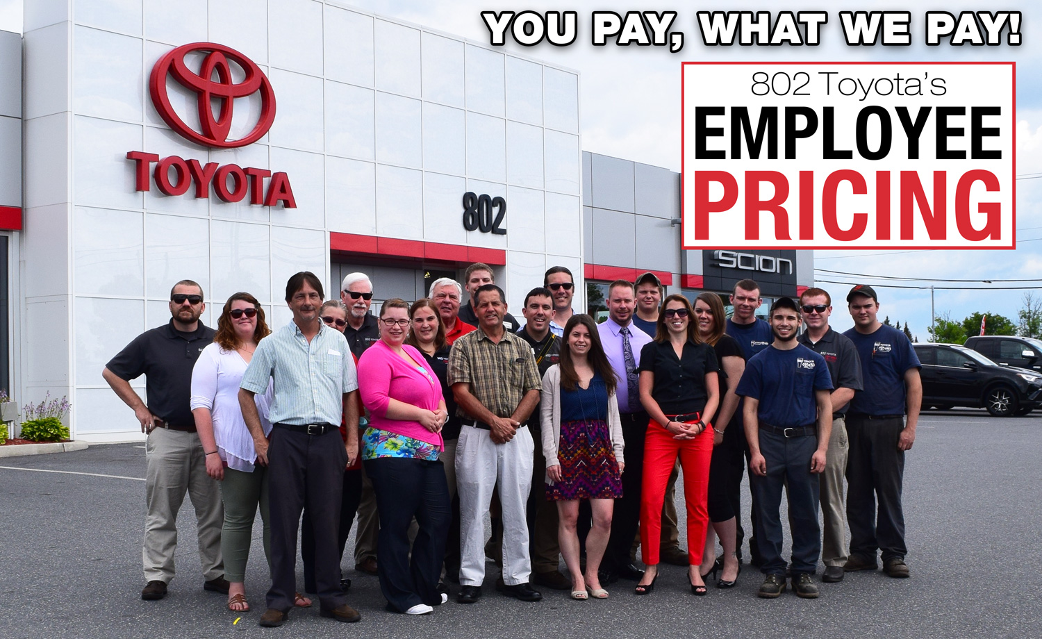 Employee Pricing at 802 Toyota. | 802Cars.com