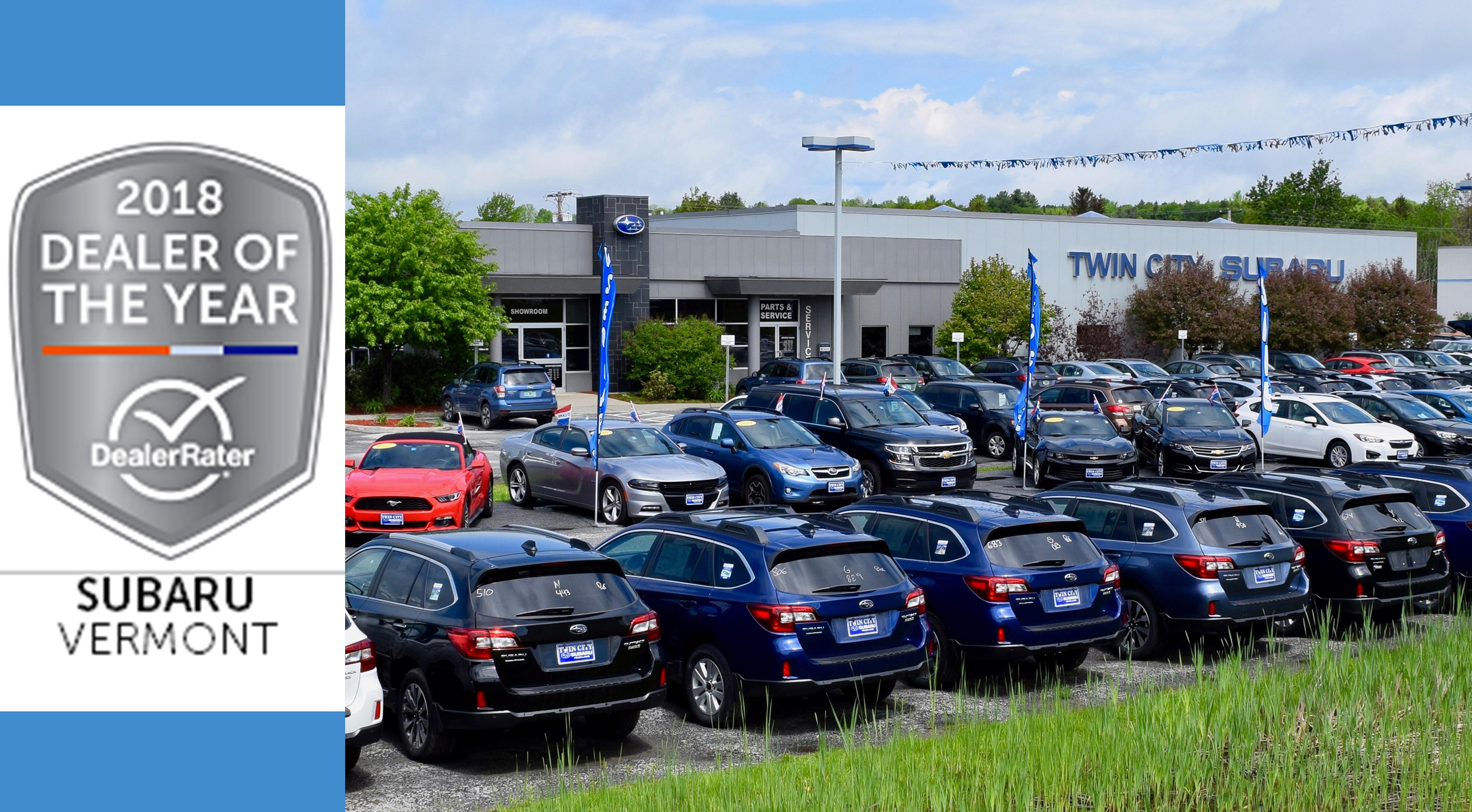 Twin City Subaru Wins 2018 Dealerrater Dealer Of The Year Award 802cars